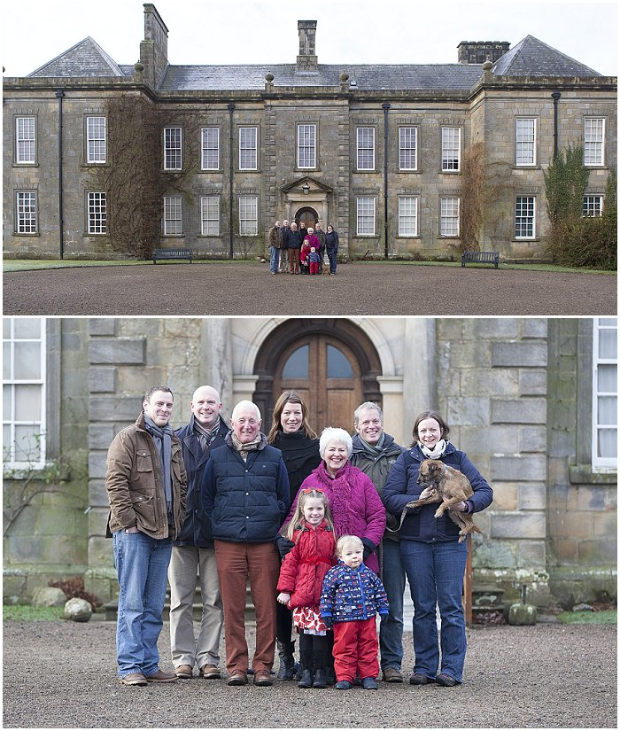 Family Portrait Wallington Northumberland